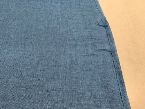 upholstery Fabric French Vintage Stonewashed Linen Teal Blue Curtain//Craft