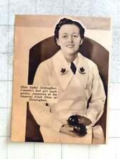 1937 Miss Isabel Stillingfleet, Canada's Best Girl Apple Packer