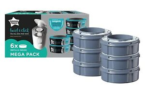 Sangenic-Tommee-Tippee-6pk-Nappy-Bin-Disposal-Refill-Cassettes-Closer-to-Nature