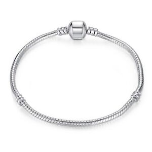 Fashion-Silver-Snake-Chain-Bracelet-Fit-European-Charm-Beads
