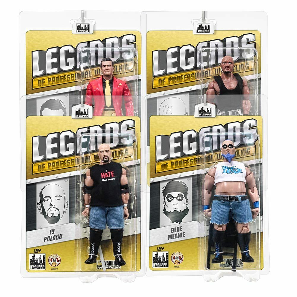Legends of Professional Wrestling Series 1 Action Figures  Set of all 4