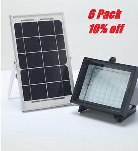 Details About 6pack Bizlander Solar Flood Light With Panel Lighting System 5w 60led