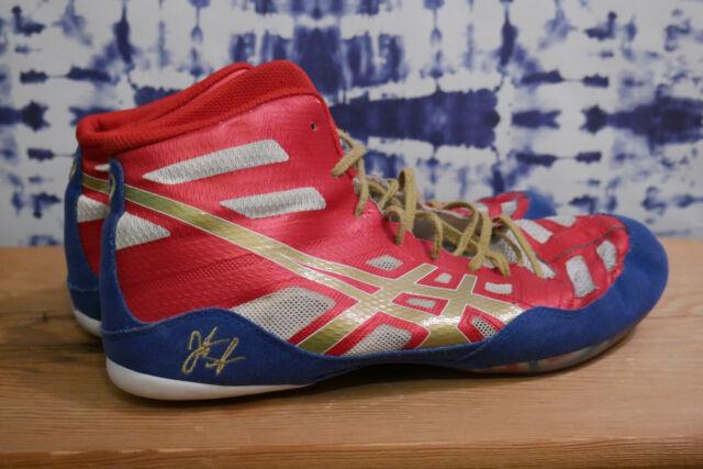 newest 787b4 10382 Asics Mens 10 Jordan Burroughs JB Elite Wrestling Shoes J3A1Y Great Used  Shape