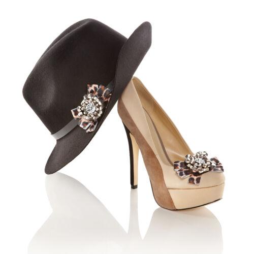 Clips de chaussures imprimé léopard ladied paire