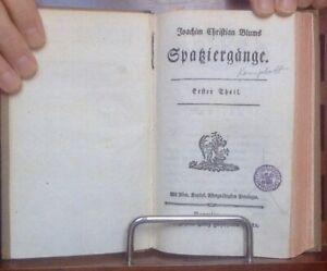 Blum-Joachim-Christian-Spaziergaenge-1782-Erstausgabe-aeusserst-selten