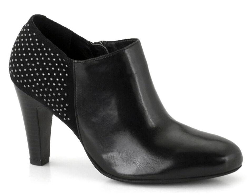 Ladies Heeled shoes Boot Gerry Weber Fabienne Black EU Size 36 - 41 (UK 3.5 - 7)