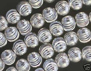 Luccicante-Placcati-Argento-Rame-Lasercut-Perline-8MM-41-9cm