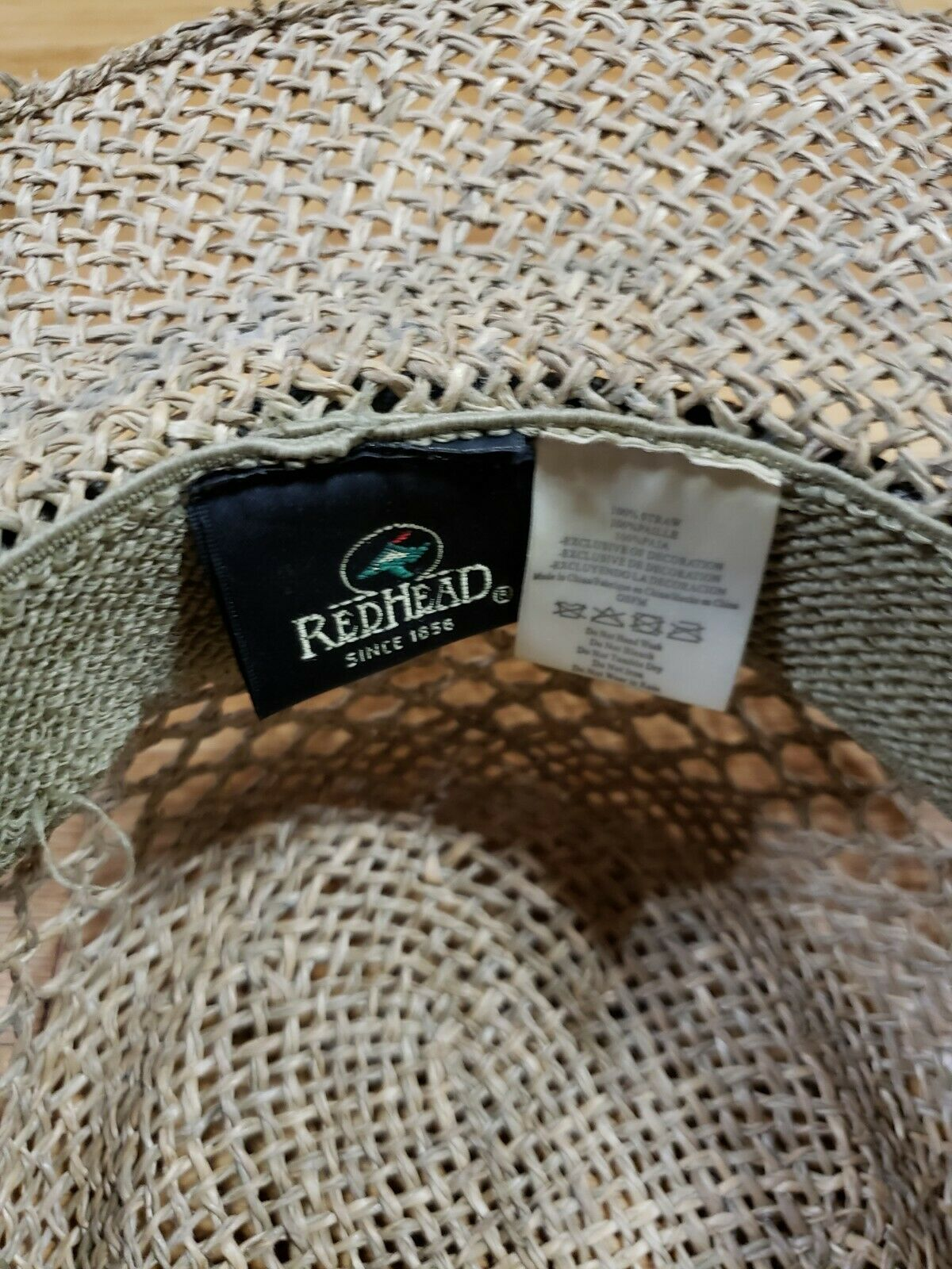 Authentic RedHead Straw Hat Cap 100% Straw One Si… - image 7