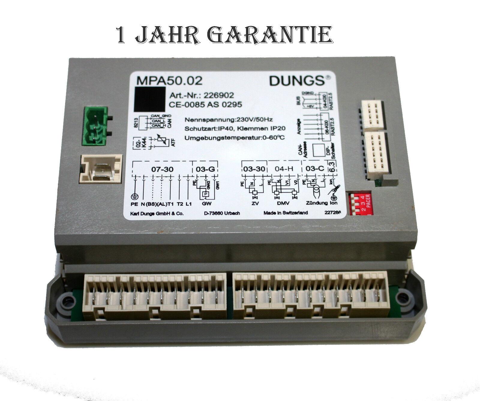 Dungs MPA50.02 - Gas Feuerungsautomat   MPA 50.02   Art.Nr. 226902
