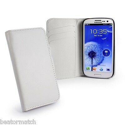 size 40 efcfb 89efd E-Volve Samsung Galaxy S3 Leather Phone Cover Wallet Case Card Slots | eBay