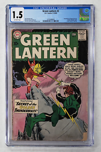 GREEN LANTERN #2 CGC 1.5 INTRODUCTION & 1st APPEARANCE QWARD UNIVERSE 1960