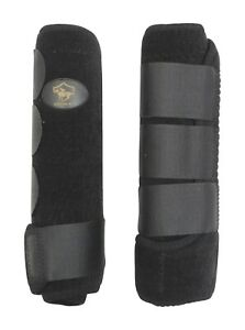 Crystal-Ace-Equestrian-Horse-Boot-Black-Neoprene-Leg-Wrap