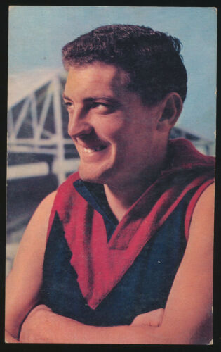 1964 Mobil Melbourne Brian Dixon card number 22 Demons Football Photos