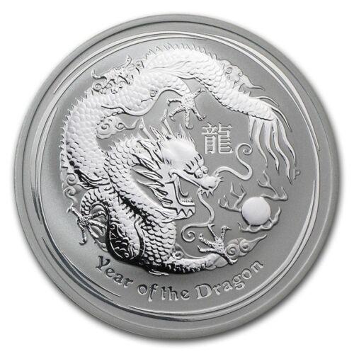 Australia $1 Dollar 2012 Lunar Series II Dragon 1 oz Bullion Lunar Silver.999 BU