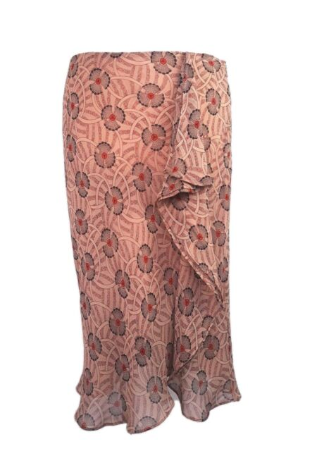 c03977a34 Laura Ashley Skirt Size 12 Ladies Womens Silk Tulip Geometric Brown for sale  online | eBay