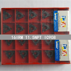 ISCAR-16IRM-11-5NPT-IC908-Threaded-blade-Carbide-Inserts-10Pcs