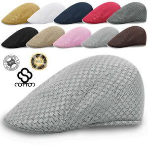 Men-039-s-Vintage-Cabbie-Newsboy-Cap-Casual-Beret-Baker-Gatsby-Golf-Driving-Flat-Hat