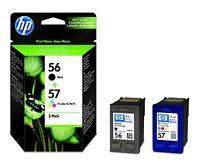 HP Tinte 56, 57 Original Kombi-Pack Schwarz, Cyan, Magenta, Gelb SA342AE
