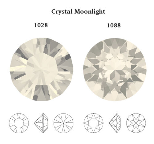 Crystal Color with Effects Genuine SWAROVSKI 1028 /& 1088 Chatons Round Stones