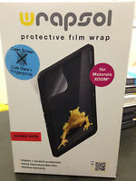 Wrapsol Cmpmo001-so Clean Screen Protective Film For Motorola Xoom, In Box
