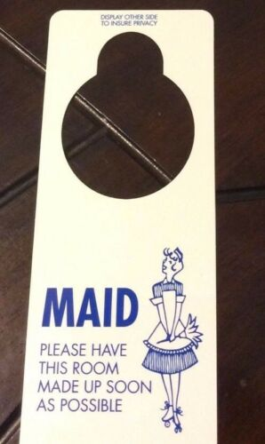 VINTAGE STYLE 1960s DO NOT DISTURB /& MAID SERVICE HOTEL MOTEL DOOR SIGN HANGER
