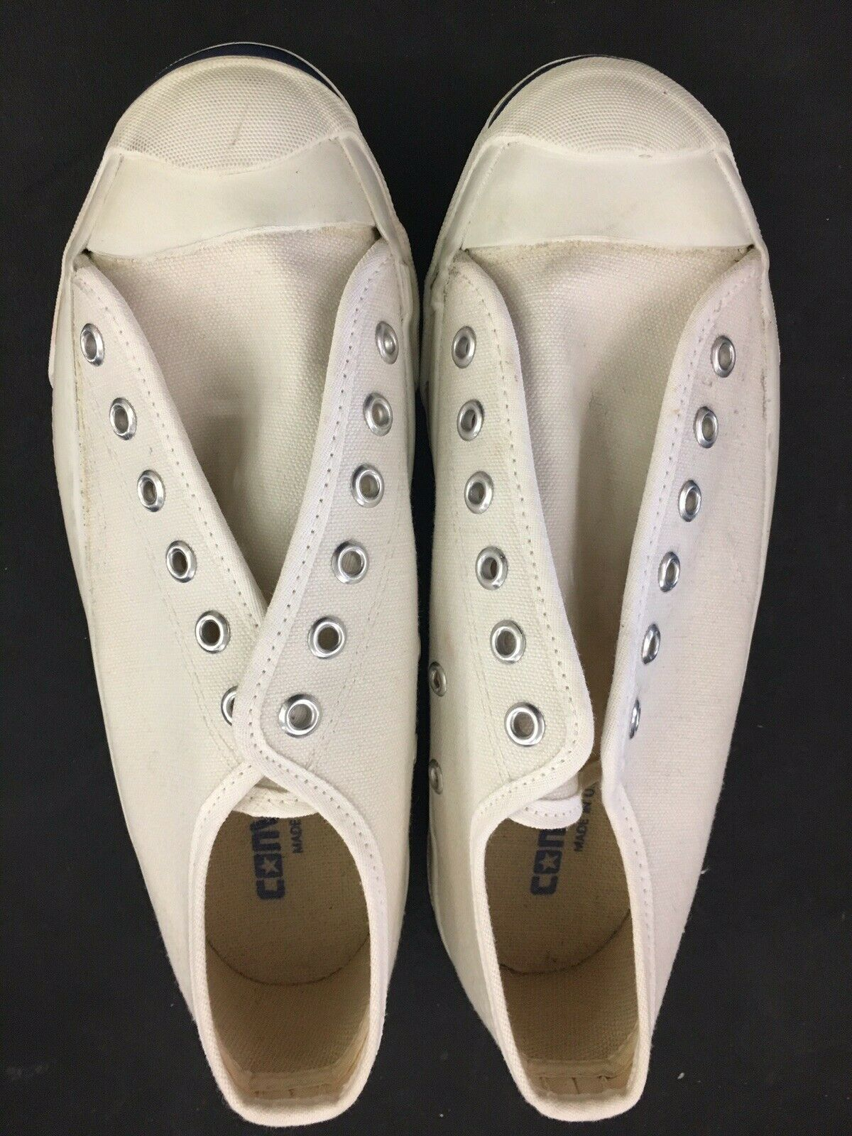 Converse Jack Purcell Low Blanc Toile Homme 5.5 made in U.S.A. 80 S