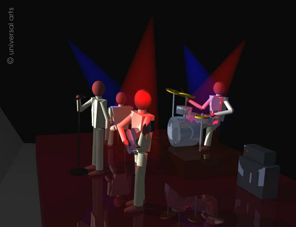 MARIO STRACK  - The Band 4 limitiert Grafik Original signiert Druck Bilder Kunst