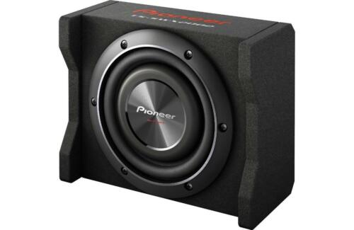 """New Pioneer TS-SWX2002 600 Watts 8/"""" Loaded Shallow Truck Subwoofer Enclosure"""