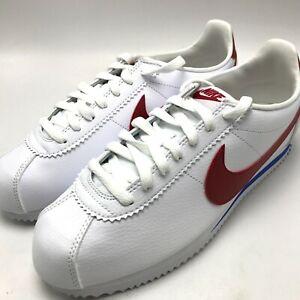 924fbc5ab Nike Classic Cortez Leather Men's Shoes White / Varsity Red 749571 ...
