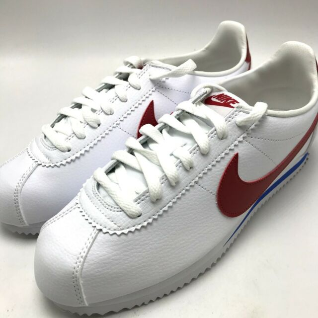Nike Classic Cortez Leather Forrest Gump Men Lifestyle Casual SNEAKERS White 9