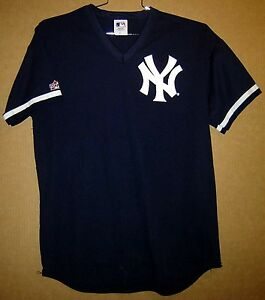 hot sale online ccfbc 9998e Details about NEW YORK YANKEES MARIANO RIVERA NAVY #42 KNIT PULLOVER Size  XL Majestic JERSEY