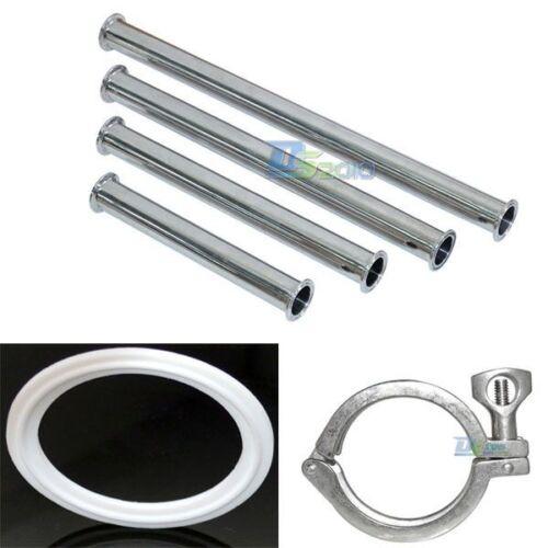 "Gasket+Tri Clamp 1/"" OD25MM Sanitary Spool Tube 8/"" W// 50.5MM Ferrule Flange"