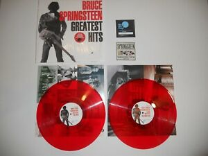 BRUCE-SPRINGSTEEN-GREATEST-HITS-2-LP-2018-RSD-RED-VINYL-NUMBERED-RECORD