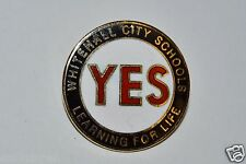 WOW Nice Vintage Whitehall City Schools OHIO Learning for Life YES Lapel Pin HTF