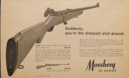 1966 Mossberg 22 Repeater Shotgun Rifle~Gun Hunting Memorabilia Trade Paper AD