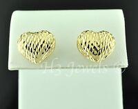 1.80 Grams 18k Solid Yellow Gold Pop Heart Stud Earring Earrings H3jewels 656