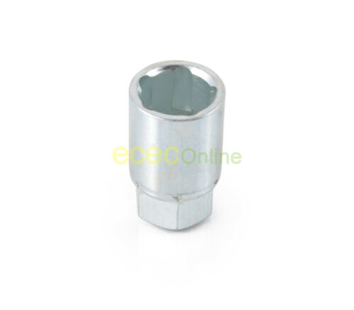 1 Silver Tool Socket Key for 5 Spline Lug Bolts Locking Security