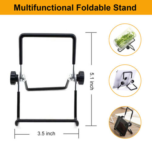 2Pcs Stainless Steel Foldable Mason Jar Sprouting Stand Non-slip Phone Scaffolds