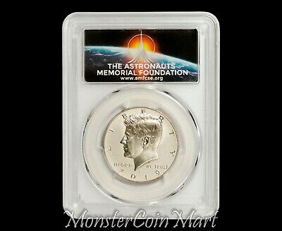 2019-S Apollo Enhanced Reverse Proof Kennedy Half PCGS PR70 FDOI First Day AMF