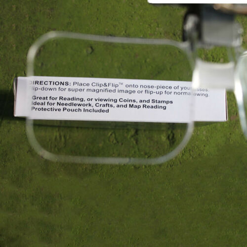 2-Times Glasses Magnifier Magnifying Glass Acrylic Lens With Clip Reading New//