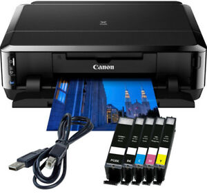 Canon-PIXMA-IP7250-Drucker-USB-5x-XL-TINTE-CD-Druck-Duplex-Foto-WLAN