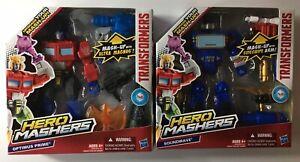Set-of-2-Soundwave-amp-Optimus-Prime-Transformers-Hero-Mashers-Mash-Up-Brand-New