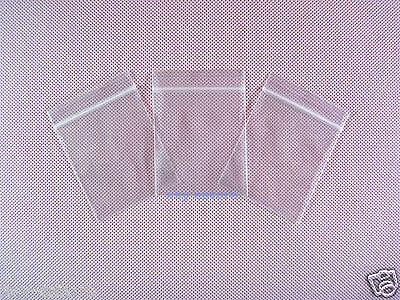 "100 Plastic Poly Storage Reclosable Zipper Bags 2.4 Mil/_4.3/"" x 6.3/""/_110 x 160mm"