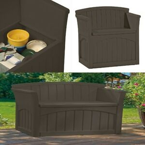 Brown Bench Storage Box Seat With Back For Kids Toys Shoe Patio Garden Outdoor 689984331272 Ebay