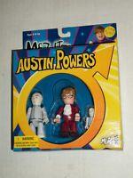 Mezco Mez-itz Austin Powers Dr Evil & Mini Me Set Misb