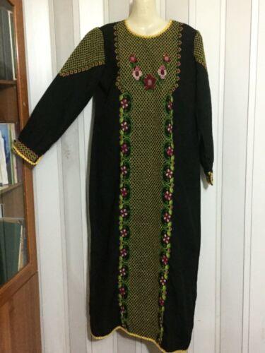 Hand made Embroiderey black Thobe  caftan dress G… - image 1