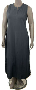 New-44-25-Value-Denim-amp-Co-sz-PS-Black-Sleeveless-Perfect-Jersey-Maxi-Dress