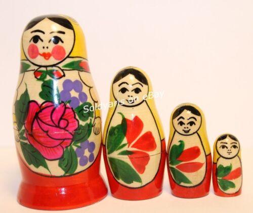AUTHENTIC SEMENOV ART MATRYOSHKA RUSSIAN SIGNED NESTING DOLLS SOUVENIR GIFT TOY