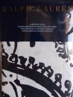 Ralph Lauren Seville Paisley Black Off White Euro Sham