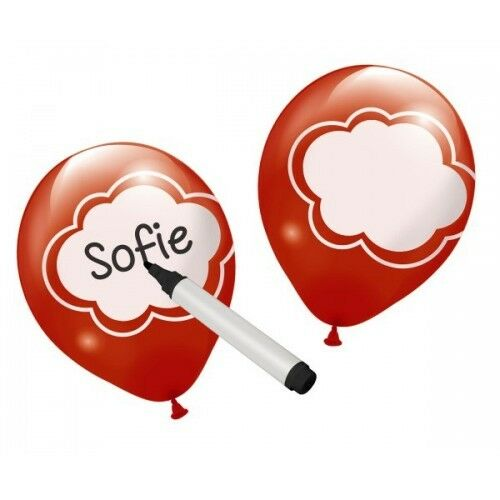 Balloons Write Your Own message pack of 6 Balloons Valentine Party